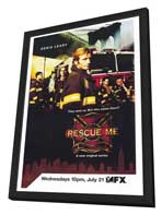 Rescue Me (TV) - 27 x 40 TV Poster - Style B - in Deluxe Wood Frame