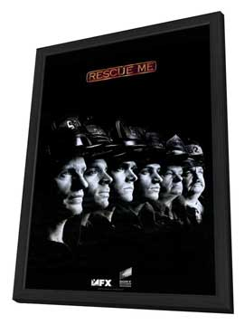 Rescue Me (TV) - 11 x 17 TV Poster - Style E - in Deluxe Wood Frame