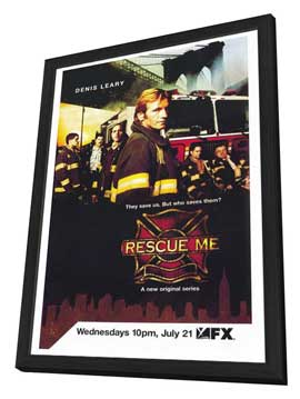 Rescue Me (TV) - 27 x 40 TV Poster - Style A - in Deluxe Wood Frame