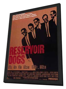 Reservoir Dogs - 11 x 17 Movie Poster - Style A - in Deluxe Wood Frame