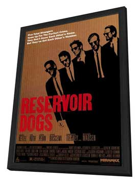 Reservoir Dogs - 27 x 40 Movie Poster - Style E - in Deluxe Wood Frame