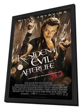 Resident Evil: Afterlife - 27 x 40 Movie Poster - Style A - in Deluxe Wood Frame