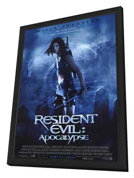 Resident Evil: Apocalypse - 27 x 40 Movie Poster - Style B - in Deluxe Wood Frame