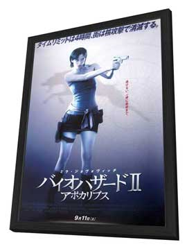 Resident Evil: Apocalypse - 27 x 40 Movie Poster - Japanese Style A - in Deluxe Wood Frame