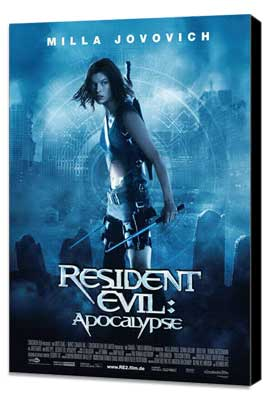 Resident Evil: Apocalypse - 27 x 40 Movie Poster - German Style A - Museum Wrapped Canvas