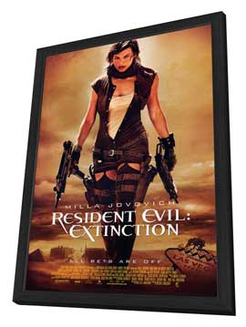 Resident Evil: Extinction - 27 x 40 Movie Poster - Style A - in Deluxe Wood Frame
