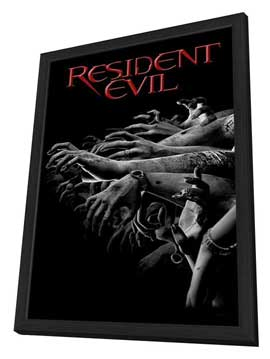 Resident Evil - 11 x 17 Movie Poster - Style E - in Deluxe Wood Frame