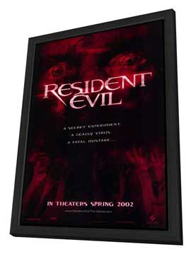 Resident Evil - 27 x 40 Movie Poster - Style A - in Deluxe Wood Frame