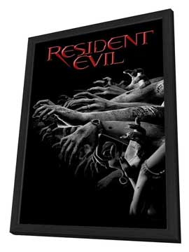 Resident Evil - 27 x 40 Movie Poster - Style C - in Deluxe Wood Frame