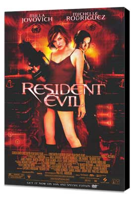 Resident Evil - 11 x 17 Movie Poster - Style D - Museum Wrapped Canvas