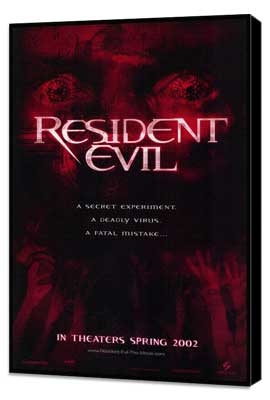 Resident Evil - 27 x 40 Movie Poster - Style A - Museum Wrapped Canvas