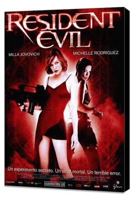 Resident Evil - 27 x 40 Movie Poster - Spanish Style A - Museum Wrapped Canvas