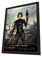 Resident Evil: Retribution - 27 x 40 Movie Poster - Style B - in Deluxe Wood Frame
