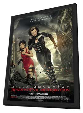 Resident Evil: Retribution - 11 x 17 Movie Poster - Style B - in Deluxe Wood Frame