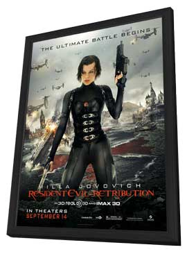 Resident Evil: Retribution - 11 x 17 Movie Poster - Style C - in Deluxe Wood Frame