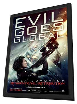 Resident Evil: Retribution - 11 x 17 Movie Poster - Style D - in Deluxe Wood Frame