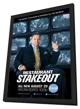 Restaurant Stakeout (TV) - 27 x 40 TV Poster - Style A - in Deluxe Wood Frame
