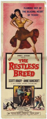 The Restless Breed - 14 x 36 Movie Poster - Insert Style A