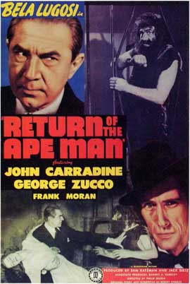 Return of the Ape Man - 11 x 17 Movie Poster - Style A