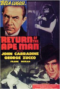 Return of the Ape Man - 43 x 62 Movie Poster - Bus Shelter Style A