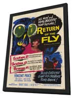 Return of the Fly - 11 x 17 Movie Poster - Style C - in Deluxe Wood Frame