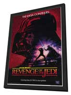 Return of the Jedi - 27 x 40 Movie Poster - Style A - in Deluxe Wood Frame