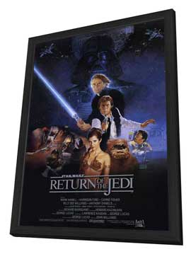 Return of the Jedi - 11 x 17 Movie Poster - Style A - in Deluxe Wood Frame