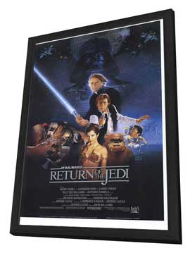 Return of the Jedi - 27 x 40 Movie Poster - Style B - in Deluxe Wood Frame