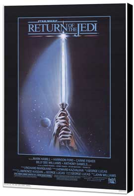 Return of the Jedi - 11 x 17 Movie Poster - Style D - Museum Wrapped Canvas