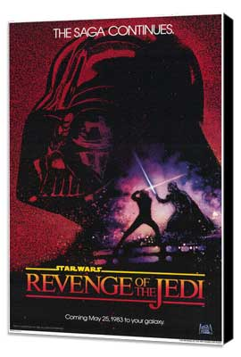 Return of the Jedi - 27 x 40 Movie Poster - Style A - Museum Wrapped Canvas