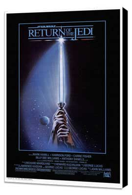 Return of the Jedi - 27 x 40 Movie Poster - Style D - Museum Wrapped Canvas