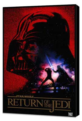 Return of the Jedi - 27 x 40 Movie Poster - Style L - Museum Wrapped Canvas
