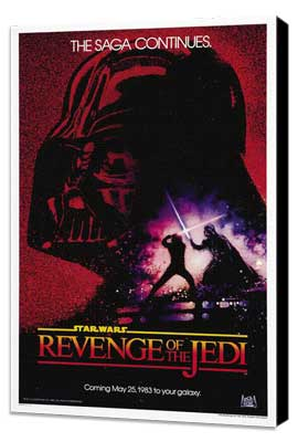 Return of the Jedi - 27 x 40 Movie Poster - Style G - Museum Wrapped Canvas