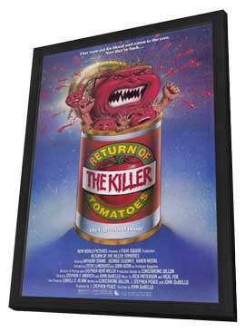 Return of the Killer Tomatoes! - 11 x 17 Movie Poster - Style A - in Deluxe Wood Frame