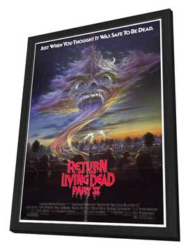 Return of the Living Dead 2 - 27 x 40 Movie Poster - Style A - in Deluxe Wood Frame