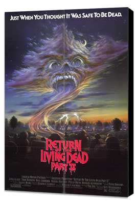 Return of the Living Dead 2 - 11 x 17 Movie Poster - Style A - Museum Wrapped Canvas