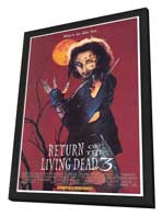 Return of the Living Dead 3 - 27 x 40 Movie Poster - Style A - in Deluxe Wood Frame