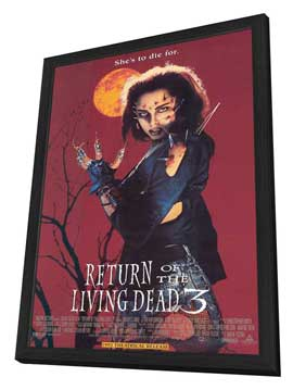 Return of the Living Dead 3 - 11 x 17 Movie Poster - Style A - in Deluxe Wood Frame