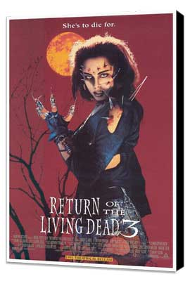 Return of the Living Dead 3 - 27 x 40 Movie Poster - Style A - Museum Wrapped Canvas