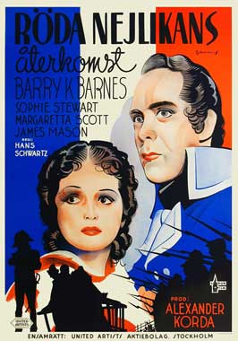 Return of the Scarlet Pimpernel - 11 x 17 Movie Poster - Swedish Style A