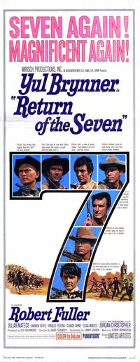 Return of the Magnificent Seven - 14 x 36 Movie Poster - Insert Style A