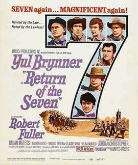 Return of the Magnificent Seven - 11 x 17 Movie Poster - Style B