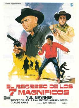 Return of the Magnificent Seven - 11 x 17 Movie Poster - Spanish Style A