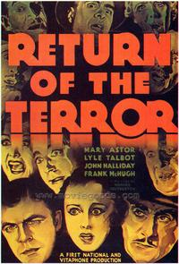 Return of the Terror - 27 x 40 Movie Poster - Style A