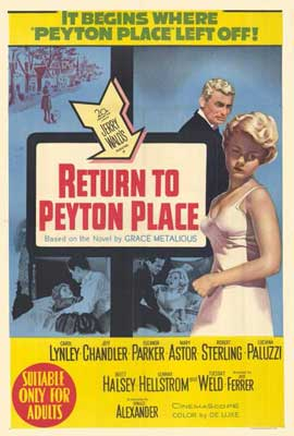 Return to Peyton Place - 11 x 17 Movie Poster - Style B