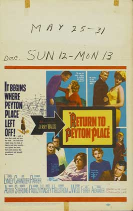 Return to Peyton Place - 11 x 17 Movie Poster - Style F