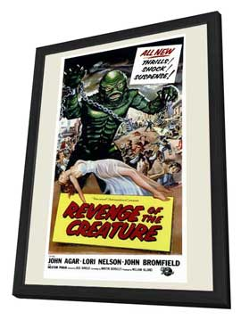 Revenge of the Creature - 11 x 17 Movie Poster - Style A - in Deluxe Wood Frame