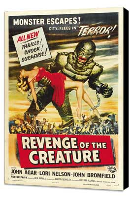 Revenge of the Creature - 27 x 40 Movie Poster - Style B - Museum Wrapped Canvas