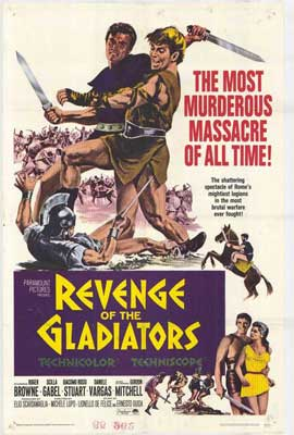 Revenge of the Gladiators - 11 x 17 Movie Poster - Style A