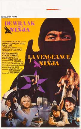 Revenge of the Ninja - 27 x 40 Movie Poster - Belgian Style A